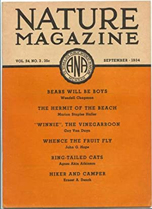 Nature Magazine; September 1934; Volume 24; No: American Nature Association.