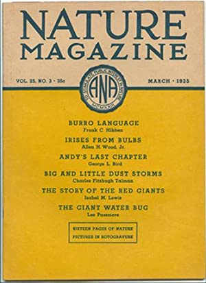 Nature Magazine; March 1935; Volume 25; No: American Nature Association.