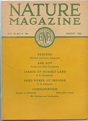 Nature Magazine; August 1935; Volume 26; No: American Nature Association.