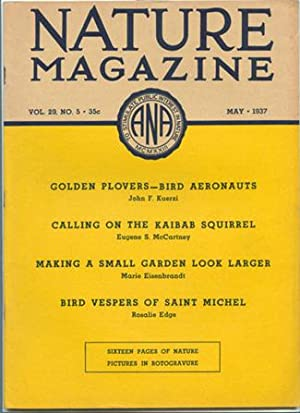 Nature Magazine; May 1937; Volume 29; No: American Nature Association.
