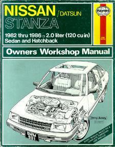 Nissan/Datsun Stanza Owners Workshop Manual.: Strasman, Peter G.