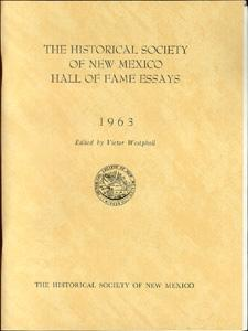 The Historical Society of New Mexico Hall: Westphall, Victor (editor).