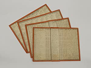 A set of portable manuscript tables for calculating weights and measures in the principal cities of...
