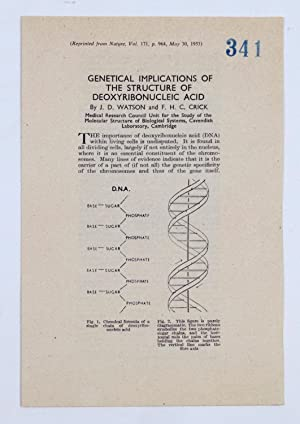 Genetical Implications of the Structure of Deoxyribonucleic Acid. (Reprinted from Nature, vol. 171,...