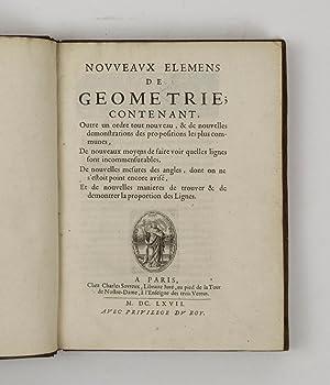 Nouveaux elemens de geometrie.: ARNAULD, Antoine]