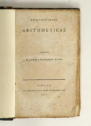 Disquisitiones arithmeticae.: GAUSS, Karl Friedrich