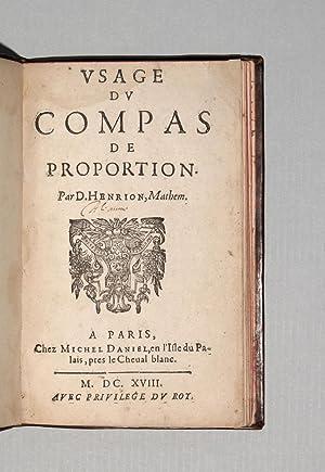 Usage du compas du proportion.: HENRION, Denis