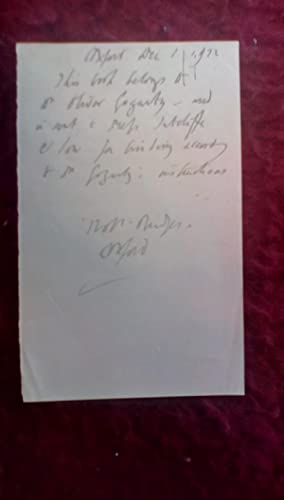 Autographed Letter by Robert Bridges