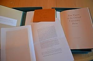 Fine Papers at the Oxford University Press: John Bidwell
