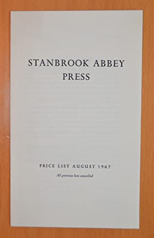 Stanbrook Abbey Press Price List August 1967: Dame Hildelith Cumming]