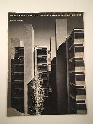 Louis I. Kahn, Architect Alfred Newton Richards: NY: MOMA, June