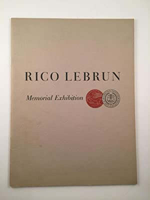 Rico Lebrun, Memorial Exhibition, Paintings and Drawings: American Academy of