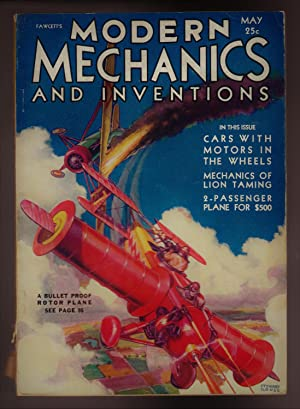 Modern Mechanix and Inventions, May 1931, Volume VI, No. 1.