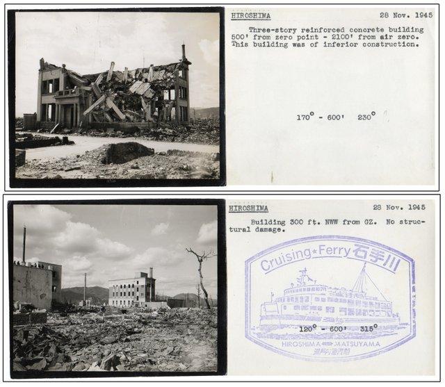 [2 Photographs of Atomic Bomb Damage in Hiroshima]: [Photography]; [WWII]