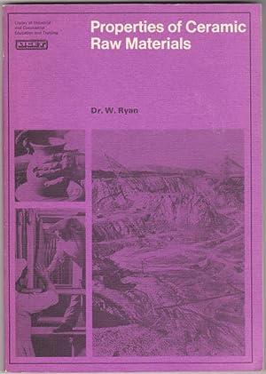 PROPERTIES OF CERAMIC RAW MATERIALS: RYAN, Dr. W.