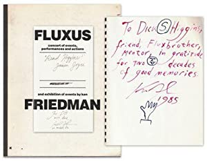 FLUXUS: concert of events, performances and actions and exhibition of events by ken FRIEDMAN [Cover...