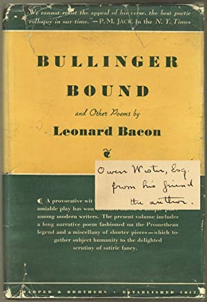 BULLINGER BOUND: And other poems