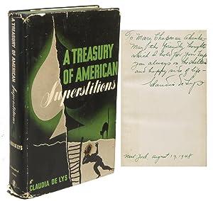 A TREASURY OF AMERICAN SUPERSTITIONS: DE LYS, Claudia