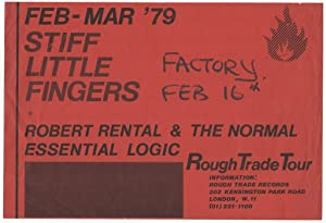 [Promotional Flyer for Stiff Little Fingers 1979 UK Tour]