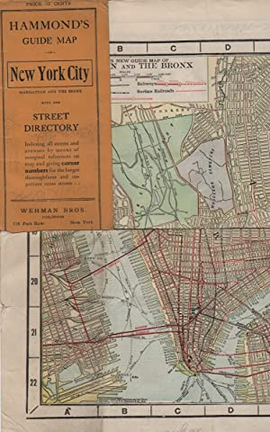 HAMMOND'S GUIDE MAP OF NEW YORK CITY: Maps]; [New York