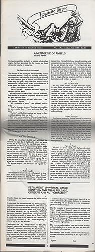 EXQUISITE CORPSE: Vol. 4/ No. 1-2/ Jan.-Feb. 1986: CODRESCU, Andrei