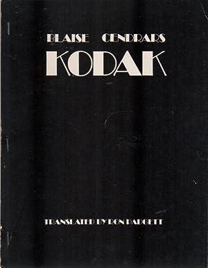 KODAK: CENDRARS, Blaise; Ron