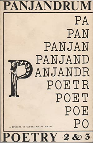PANJANDRUM 2 & 3: A Double Issue - A Journal of Contemporary Poetry