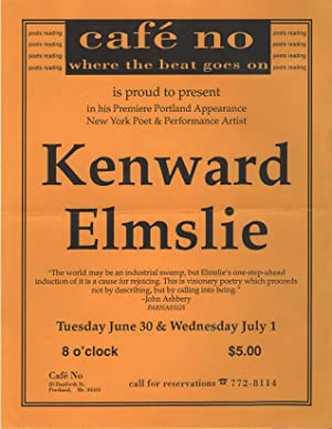 [Xeroxed Flyer for a Reading by Kenward Elmslie]