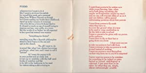 POEMS [Broadside]