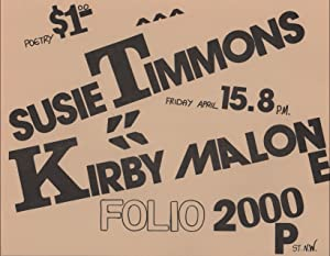Flyer for a Reading by Susie Timmons: TIMMONS, Susie and