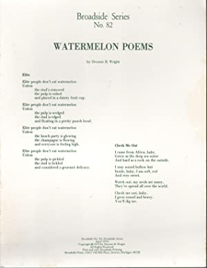 WATERMELON POEMS (Broadside Series No. 82)
