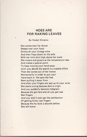 HOES ARE FOR RAKING LEAVES [.] UNITE [.] THE BLACK MAN'S LIFE [.] SUPERBLACK (Broadside No. 53)
