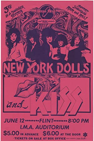 [Original Poster for a 1974 New York Dolls & Kiss Concert at the I.M.A Auditorium in Flint, MI]
