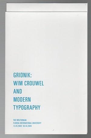 GRIDNIK: Wim Crouwel and Modern Typography: CROUWEL, Wim