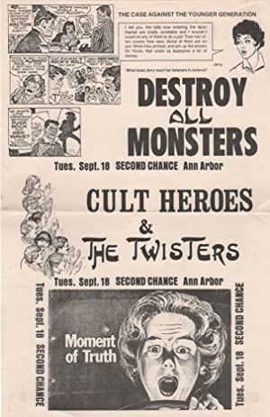DESTROY ALL MONSTERS [,] CULT HEROES & THE TWISTERS [Concert Poster]