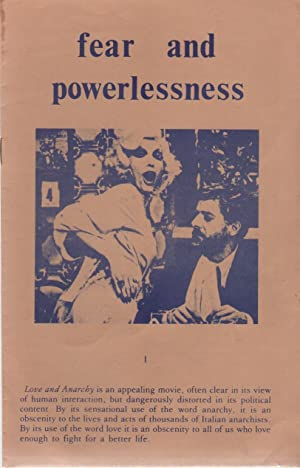 FEAR AND POWERLESSNESS