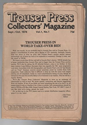 TROUSER PRESS COLLECTORS' MAGAZINE: Issues 1-28