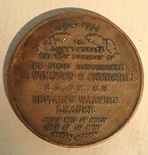 Churchill 80th Birthday bronze medal 1954