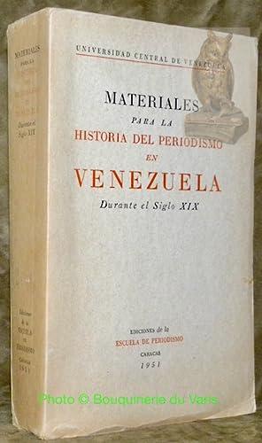 Materiales para la historia del periodismo en: GRASES, Pedro.