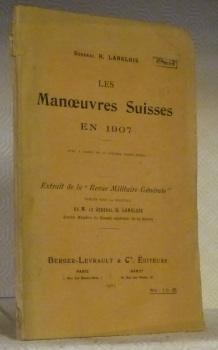 Les Manoeuvres Suisses en 1907. Extrait de: LANGLOIS, Général H.