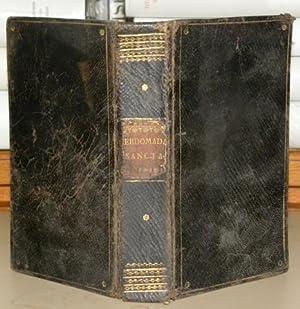 OFFICIUM Hebdomadae Sanctae Secundum Missale et Breviarium