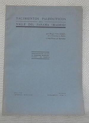 Yacimientos paleoliticos del valle del Jarama (Madrid).T.A. del Anuario de Prehistoria Madrilena ...