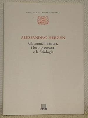 Alessandro Herzen. Gli animali martiri, i loro: HERZEN, Alessandro. -