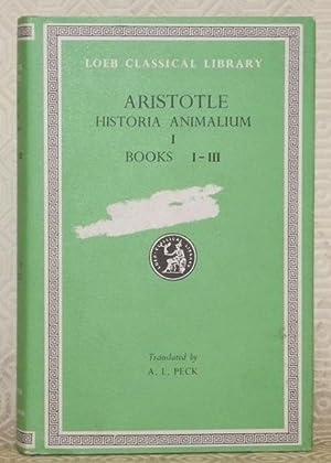 Historia animalium I, Books I - III.: ARISTOTLE.