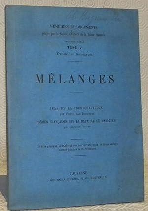 Mélanges. Jean de La Tour-Chatillon par Victor: Berchem, Victor van.