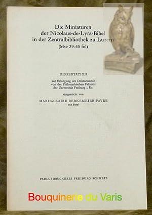 Die Miniaturen der Nicolaus-de-Lyra-Bibel in der Zentralbibliothek: BERKEMEIER-FAvre, Marie-Claire.
