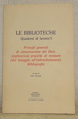 Le Biblioteche. Quaderni di lavoro / 3.: INNOCENTI, Piero.