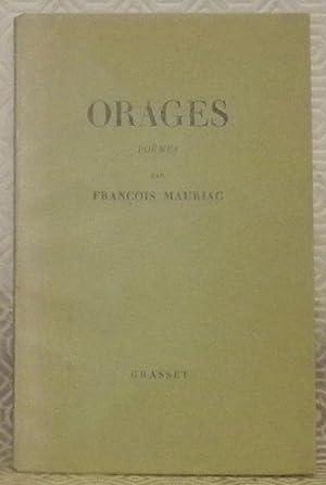 Orages. Poèmes.: MAURIAC, François.