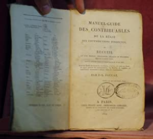 Manuel-Guide des contribuables de la régie des: JACCAZ, J.-L.