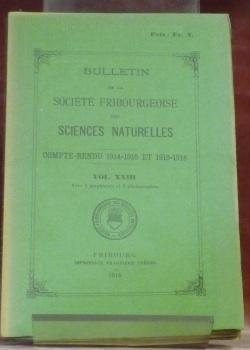 Bulletin de la Société Fribourgeoise des Sciences: Berger, E. -
